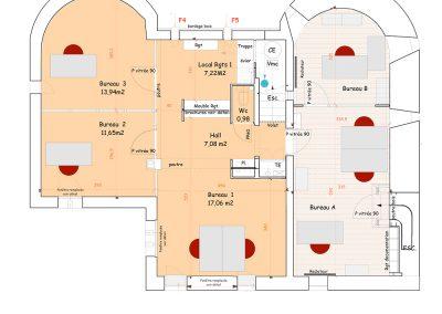 Plan d'aménagement du château de Chevreuse