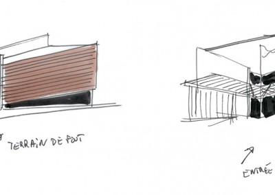 Projet Tennis Club - croquis YDS Architectes