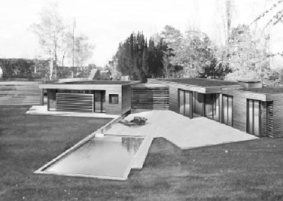 Maison bois et piscine à Choisel