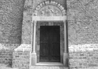 Restauration du portail de l'église de Choisel